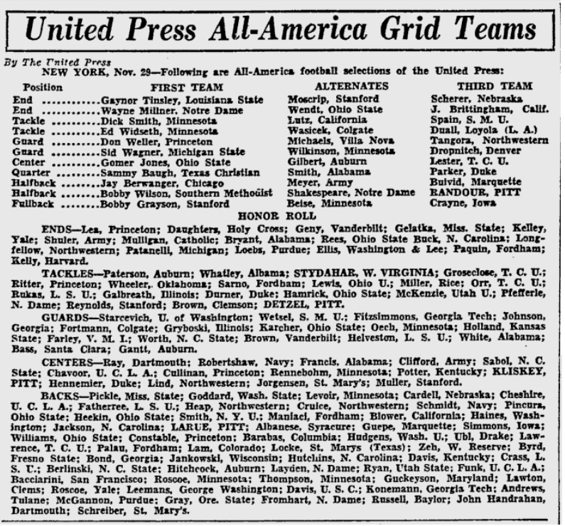 All-Americans_1935_UPI_PittsburghPress_Nov291935