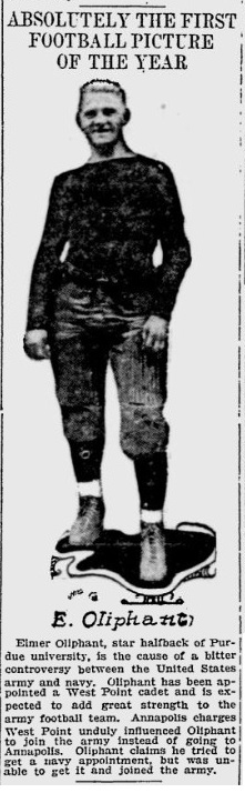 ArmyFB_1914_ElmerOliphant_MilwaukeeJournal_Aug281914