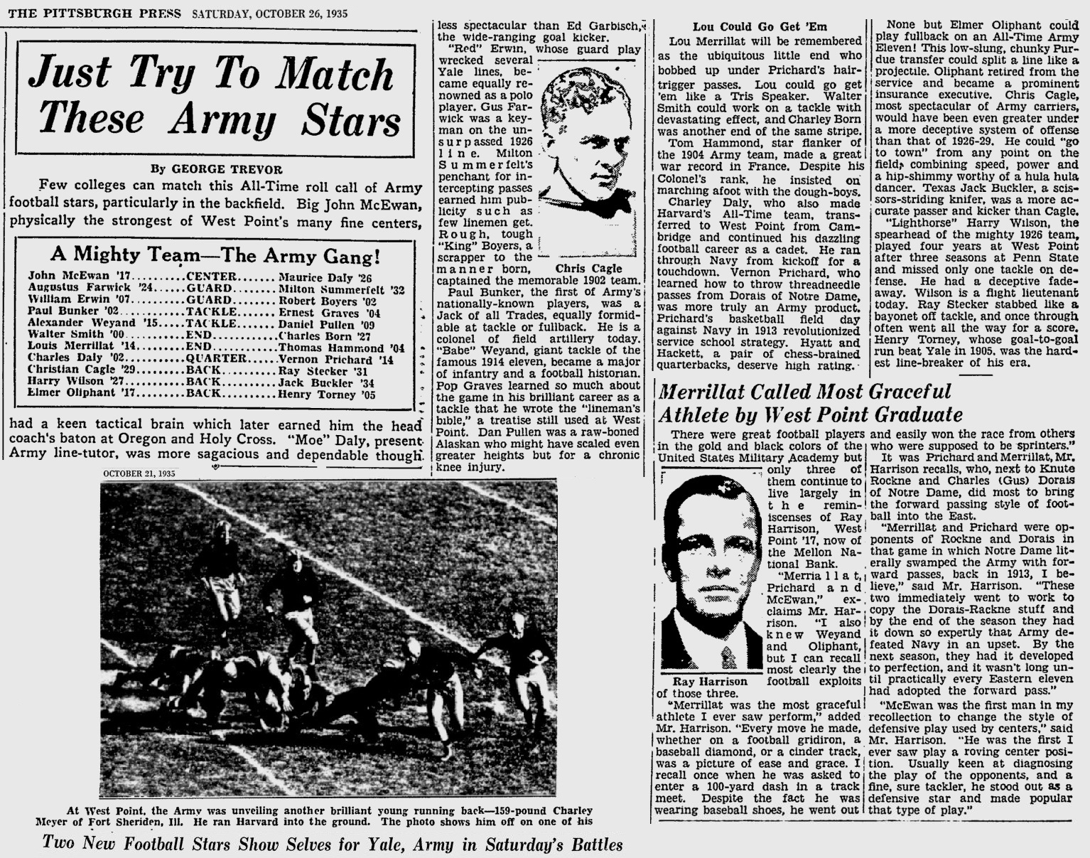 ArmyFB_1935_All-Time-Stars_PittsburghPress_Oct261935