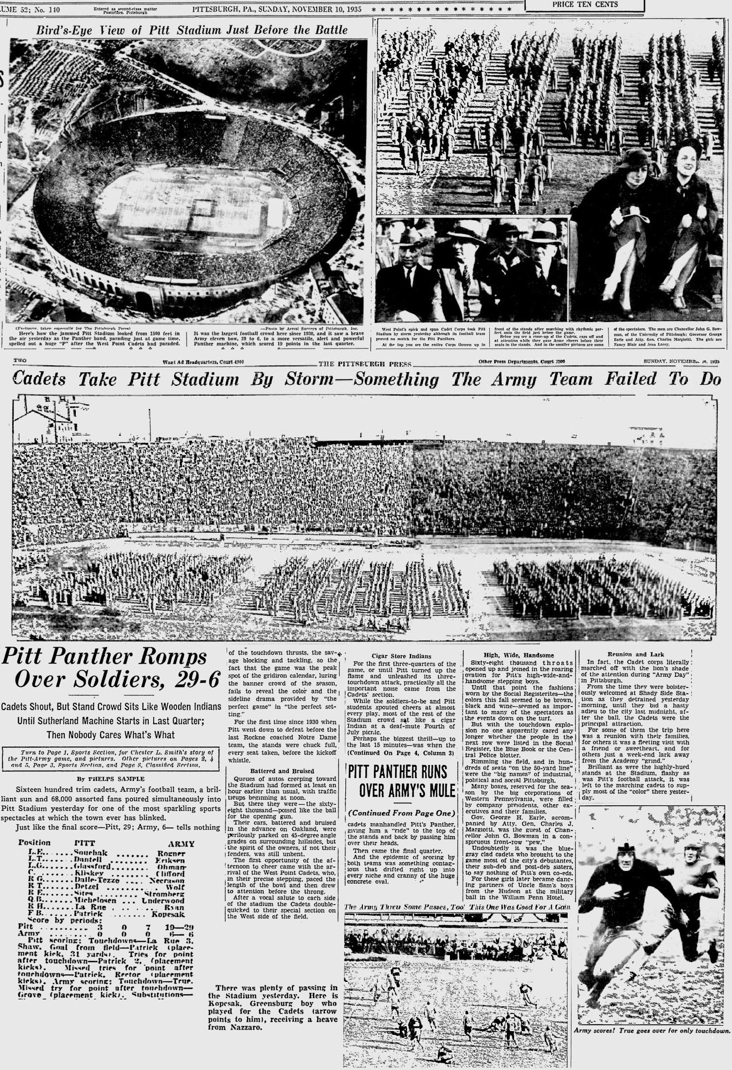 ArmyFB_1935_vsPitt_Stadium-CorpsofCadets_PittsburghPress_Oct161932