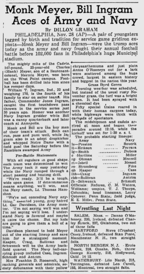 ArmyFB_1936_vsNavy-pre_TheDay_Nov281936
