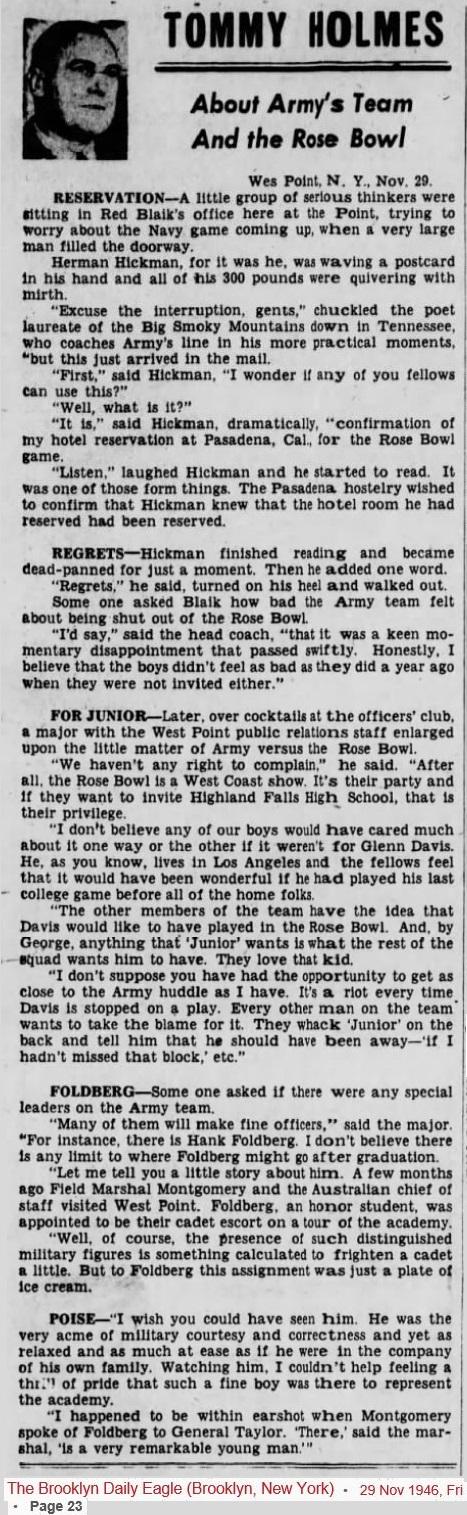 ArmyFB_1946_RoseBowl_BrooklynDailyEagle_Nov291946