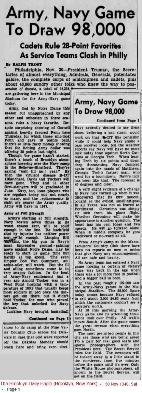 ArmyFB_1946_vsNavy-pre-game_BrooklynDailyEagle_Nov301946