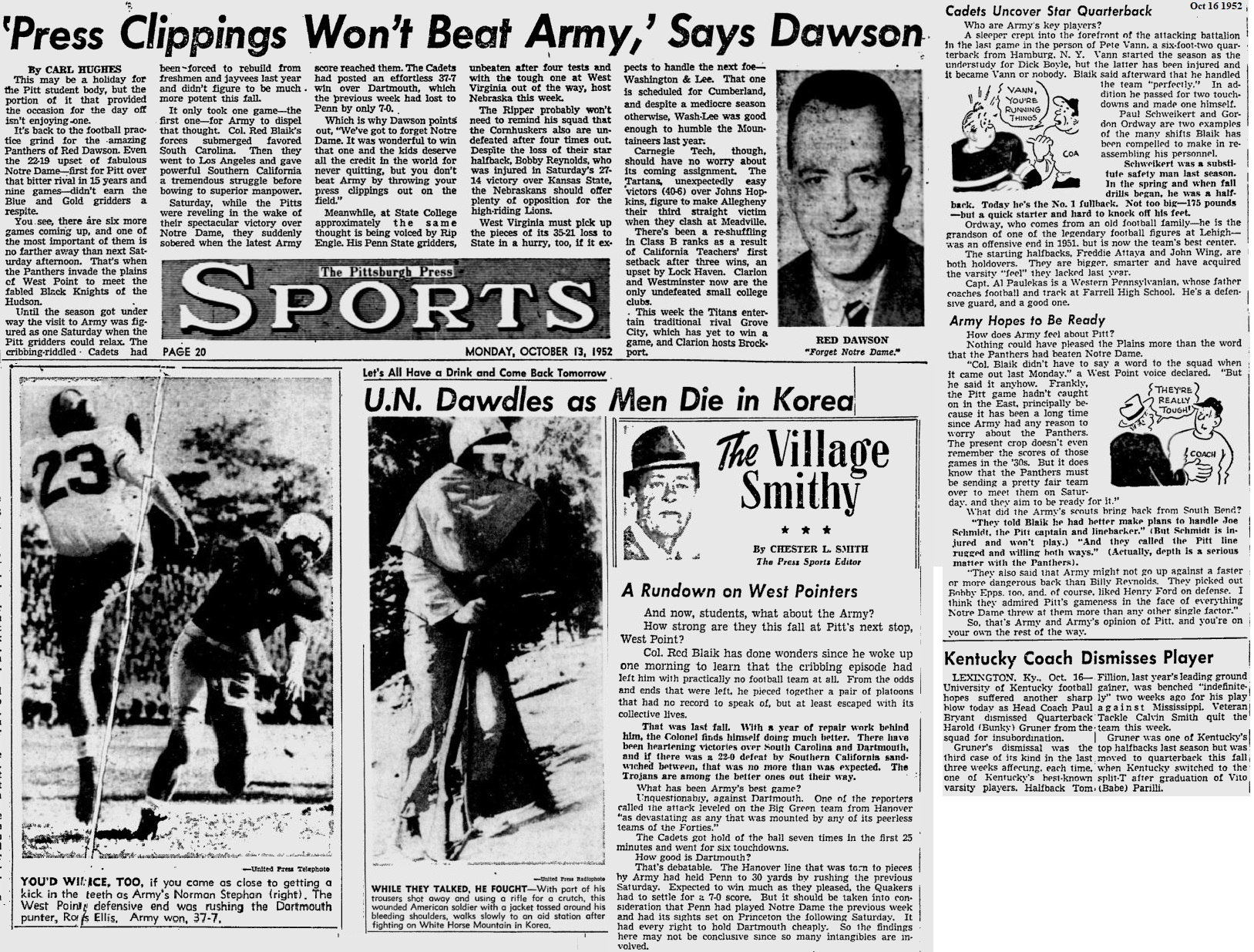 ArmyFB_1952_vsPitt_PittsburghPress_Oct13-161952