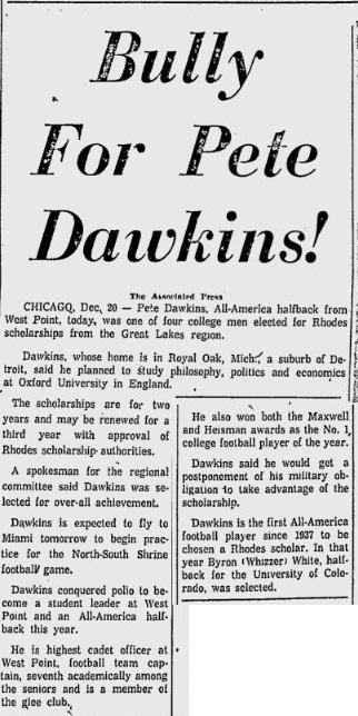 ArmyFB_1958_Dawkins-Heisman-RhodesScholar_MiamiNews_Dec211958