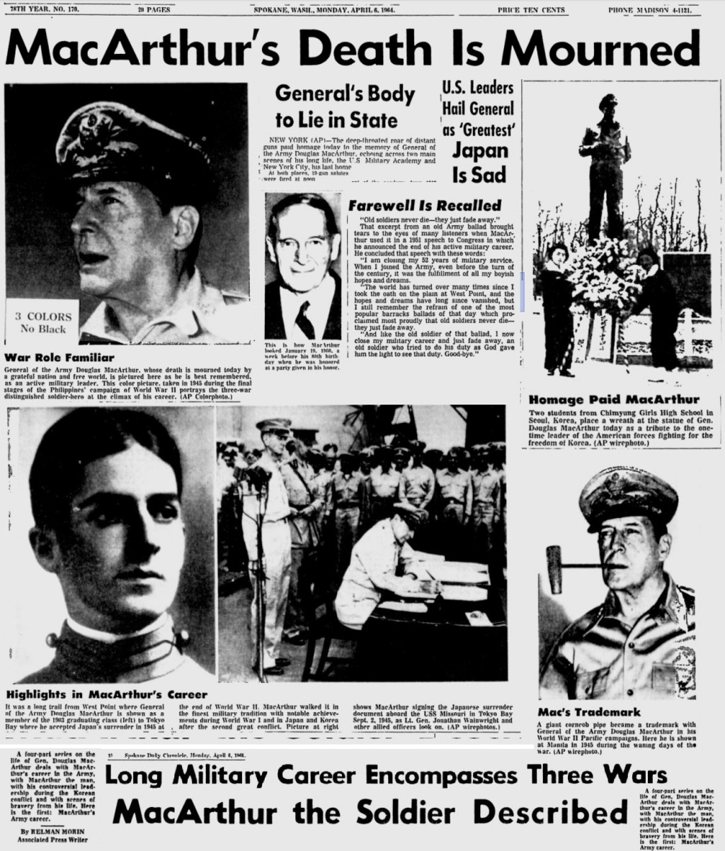 DouglasMacArthur_Death_SpokaneDailyChronicle_Apr61964