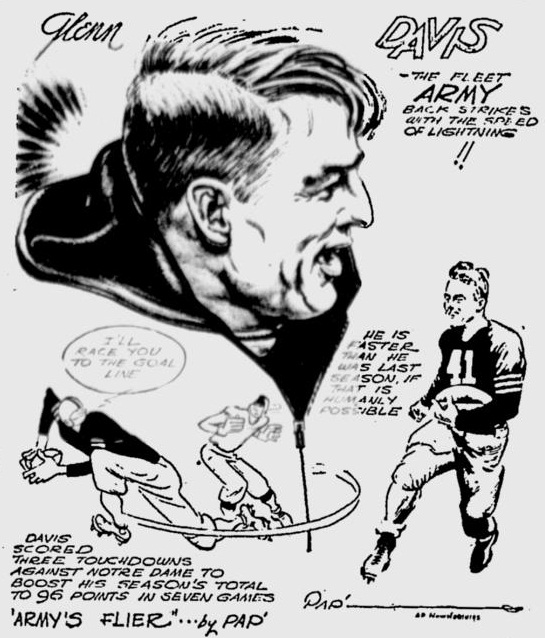 ArmyFB_1944_GlennDavis_byPap_PrescottEveningCourier_Dec111944