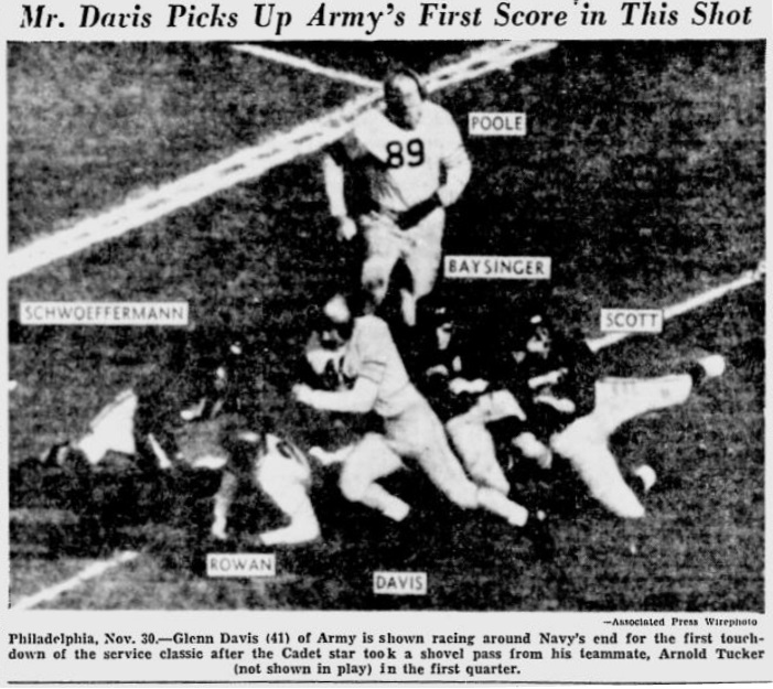 ArmyFB_1946_vsNavy-Davis_YoungstownVindicator_Dec11946