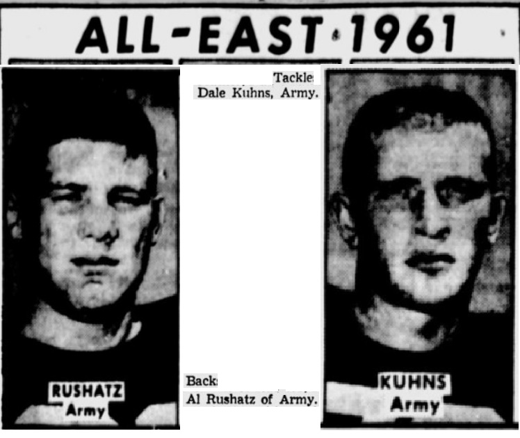 ArmyFB_1961_Rushatz-Kuhns-All-East_TheTelegraph_Dec11961