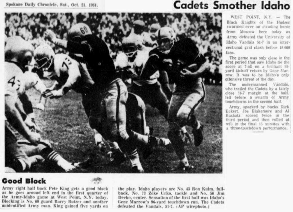 ArmyFB_1961_vsIdaho_SpokaneDailyChronicle_Oct211961