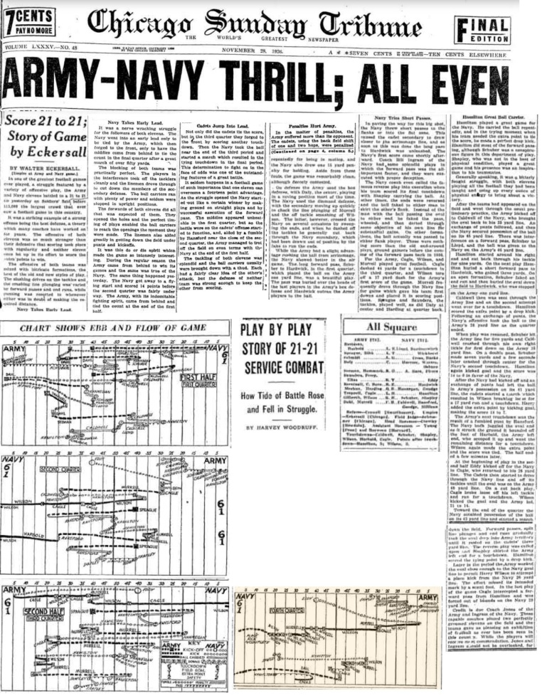ArmyFB_1926_vsNavy_ChicagoTribune_Nov291926
