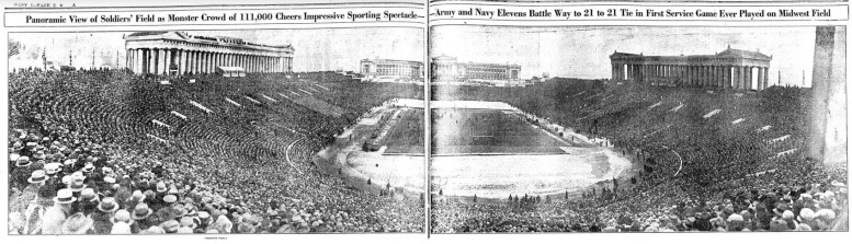 ArmyFB_1926_vsNavy_panoramic_ChicagoTribune_Nov291926