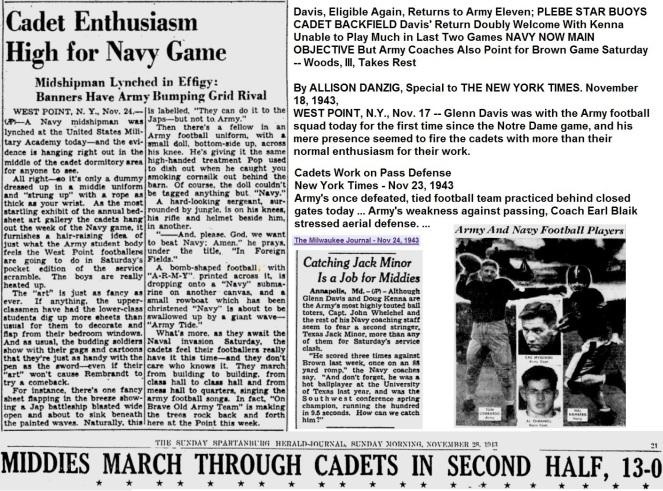 ArmyFB_1943_vsNavy-pre_PittsburghPostGazette_Nov251943