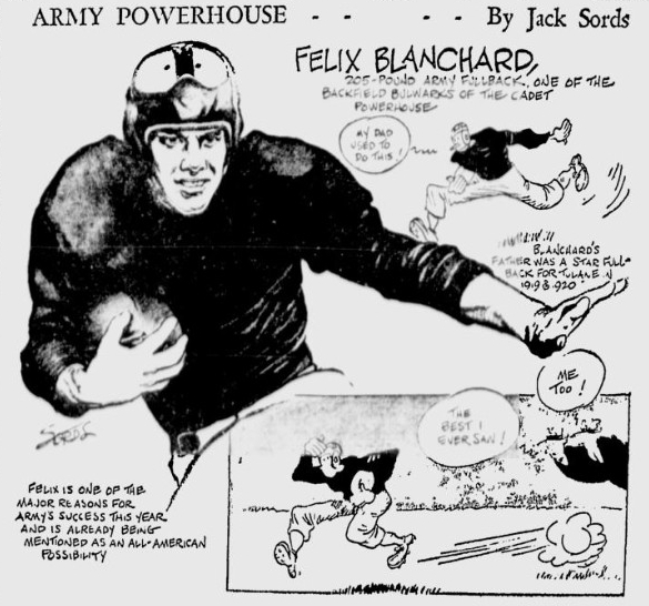ArmyFB_1944_DocBlanchard_byJackSords_PainesvilleTelegraph_Nov61944