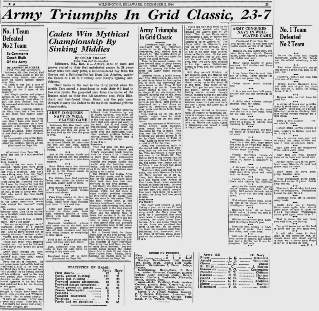 ArmyFB_1944_vsNavy_SundayMorningStar_Dec31944