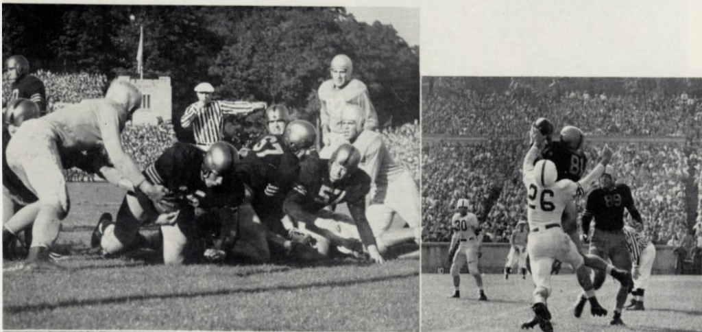 ArmyFB_1946_action-1_Blanchard-run_Foldberg-catch