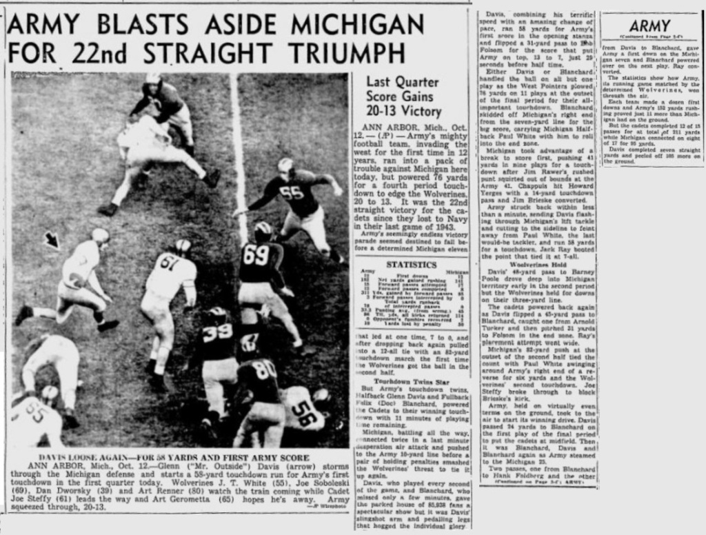 ArmyFB_1946_vsMichigan_MiamiNews_Oct131946