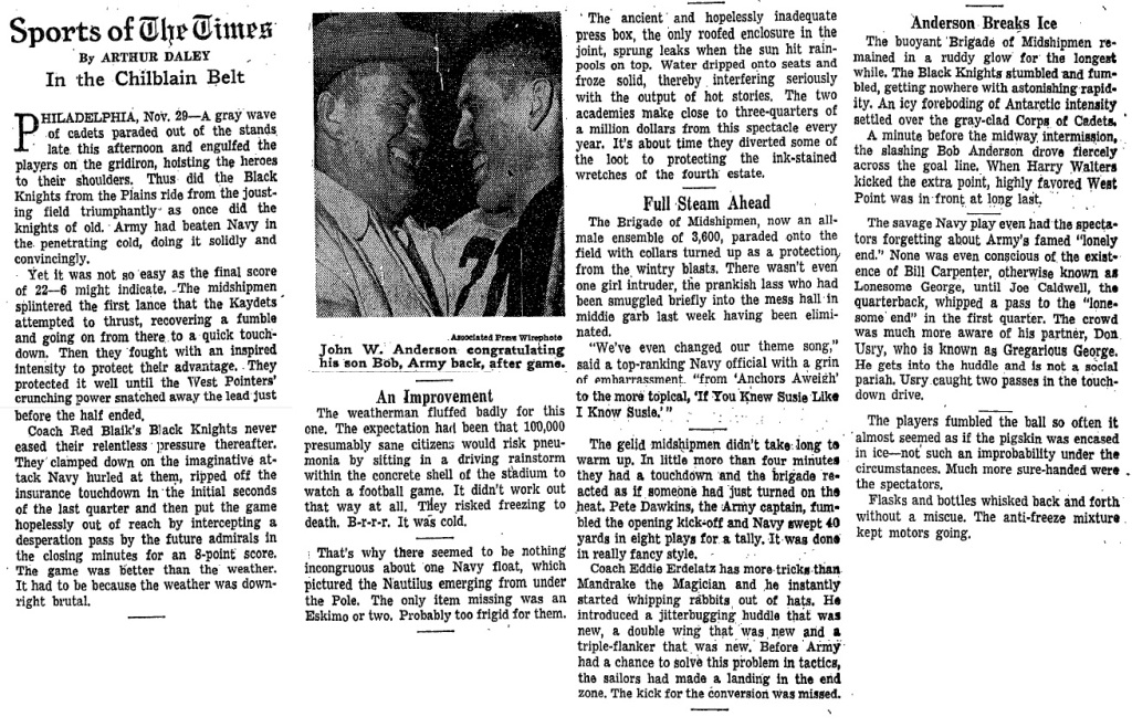 ArmyFB_1958_vsNavy_ArthurDaley_NYT_Nov301958