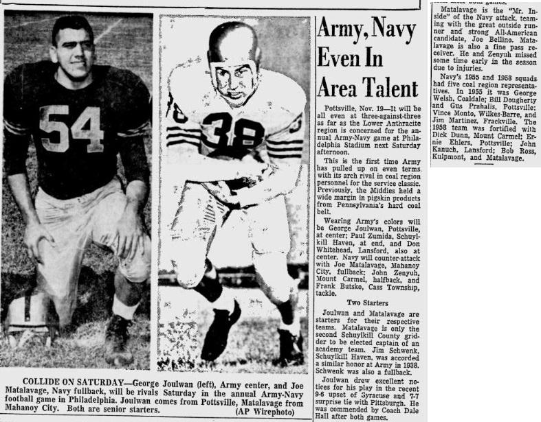 ArmyFB_1960_GeorgeJoulwon_ReadingEagle_Nov201960