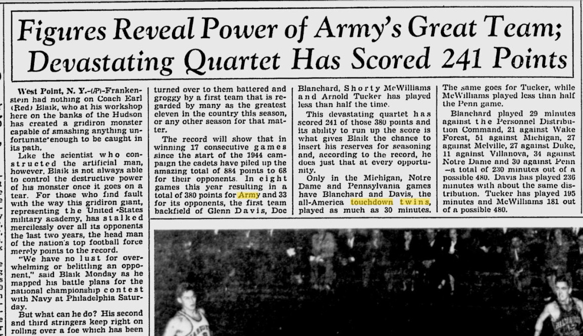 armyfb_1945_greatestteam_milwaukeejournal_nov271945