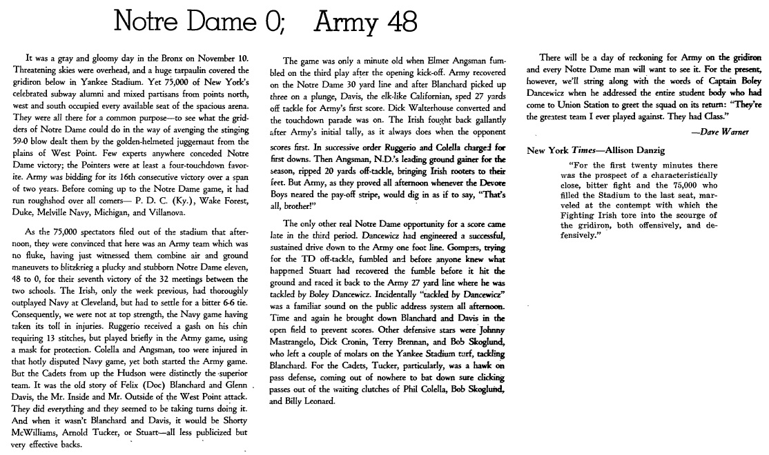 armyfb_1945_notredame_officialreview_recap