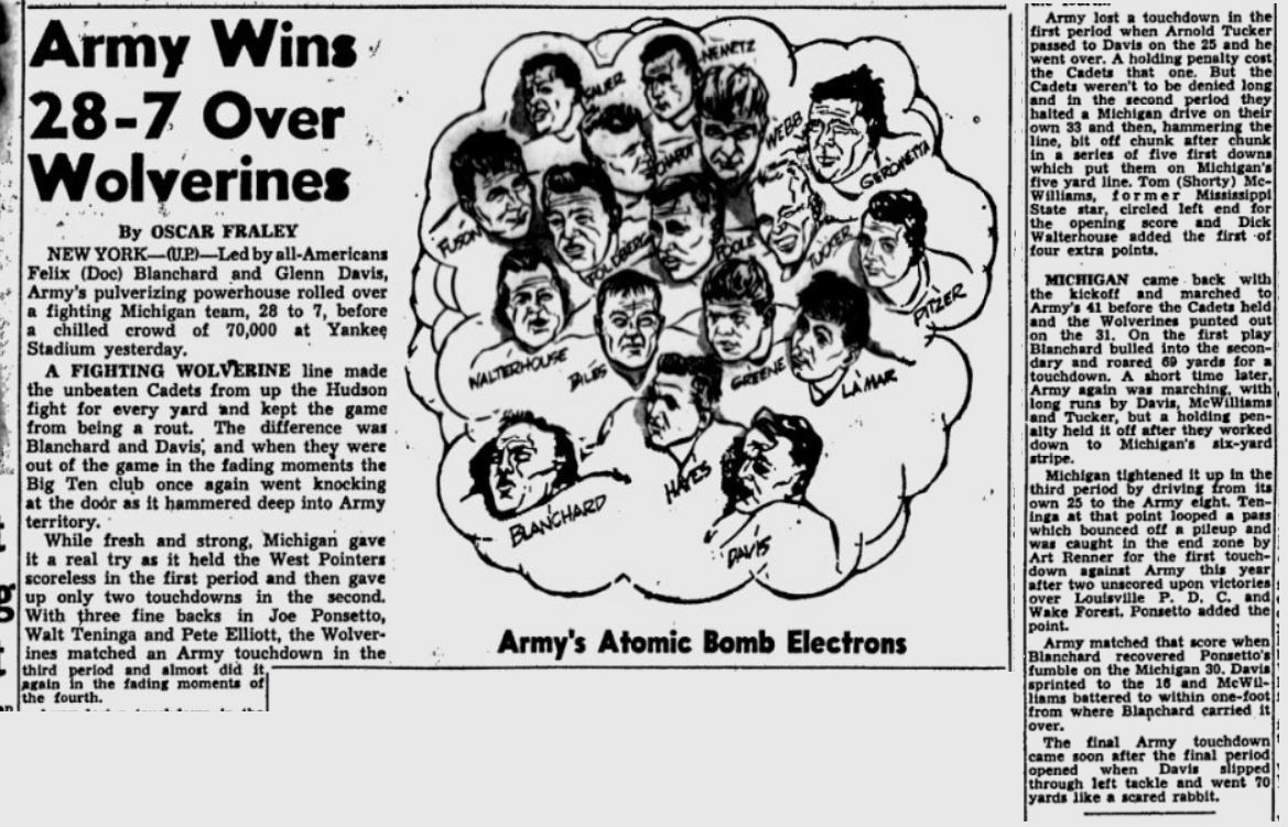 armyfb_1945_vsmichigan_stpetersburgtimes_oct141945