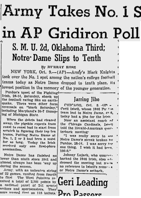 ArmyFB_1950_No1_StJosephGazette_Oct101950