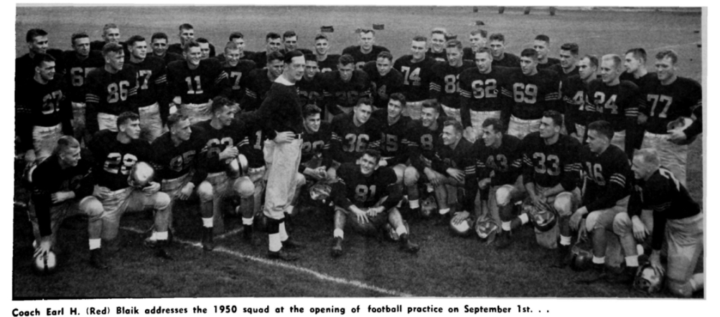 ArmyFB_1950_team_openingpractice