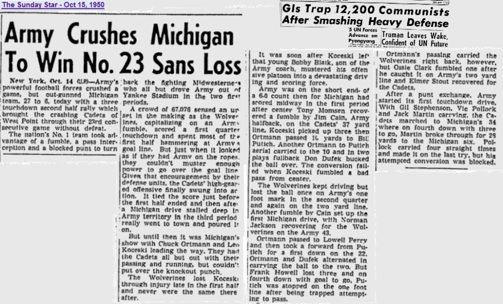 ArmyFB_1950_vsMichigan_SundayMorningStar_Oct151950