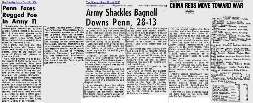 ArmyFB_1950_vsPenn_SundayMorningStar_Oct29-Nov51950