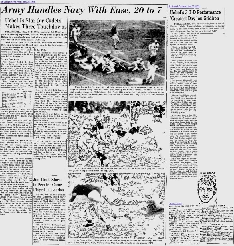 ArmyFB_1953_vsNavy_StJosephNews-Press_Nov291953