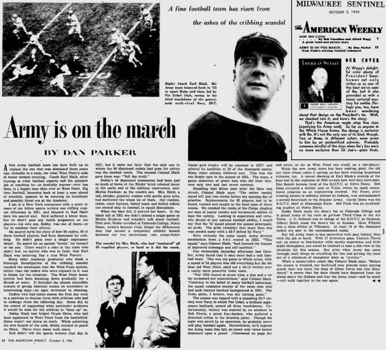 ArmyFB_1954_ArmyisontheMarch_MilwaukeeSentinel_Oct31954