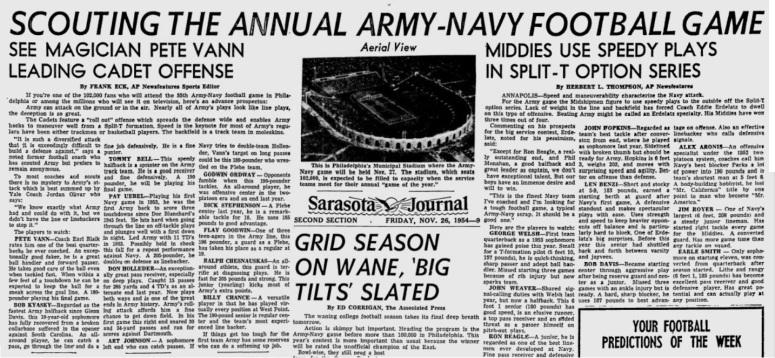 ArmyFB_1954_Scouting_pre-Navy_SarasotaJournal_Nov261954