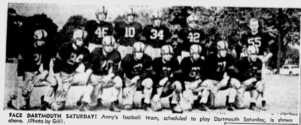 ArmyFB_1954_starters_NewburghNews_Oct61954