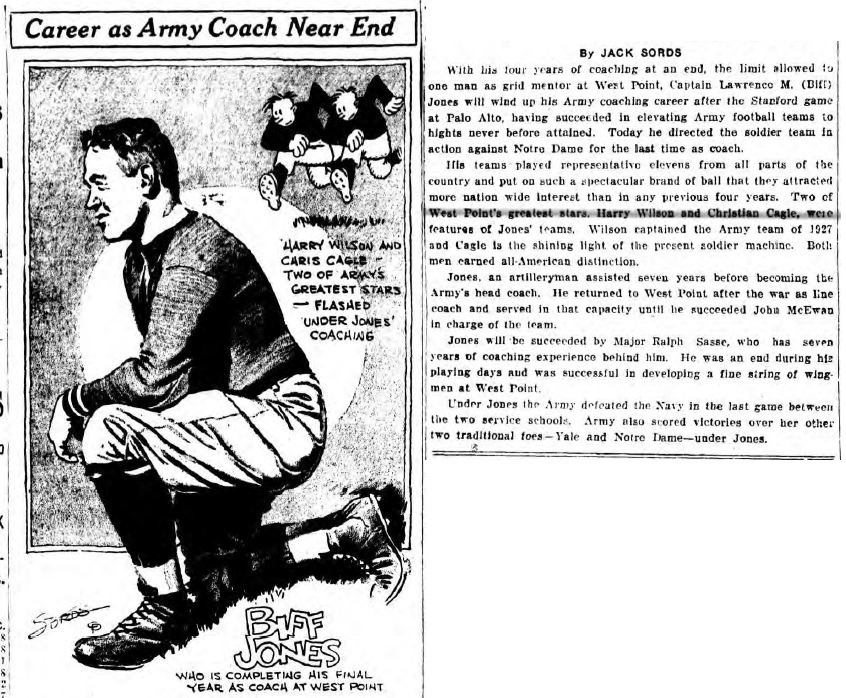 ArmyFB_1929_CoachBiffJones_byJackSords_DailySentinelRomeNY_Nov301929
