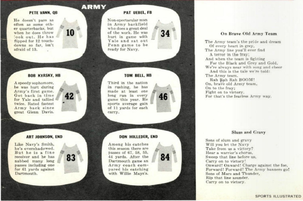 ArmyFB_1954_vsNavy_Watch-Sing_SI_Nov221954