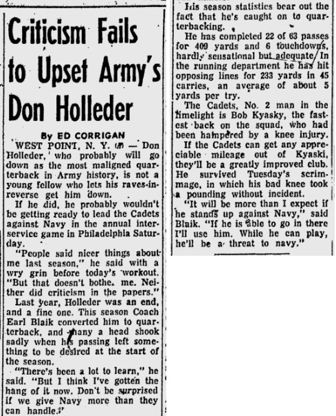 ArmyFB_1955_DonHolleder_NewburghNews_Nov231955