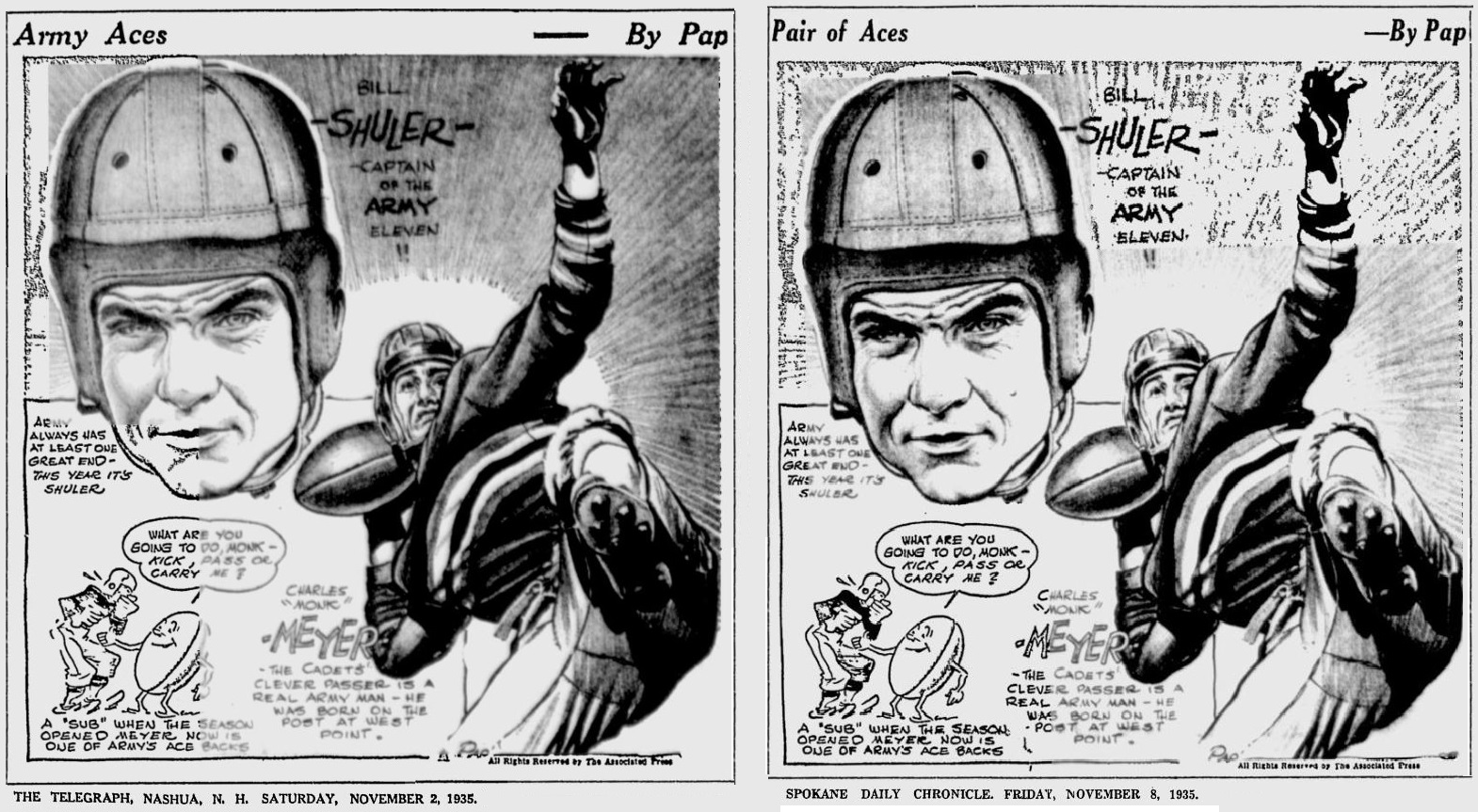 armyfb_1935_billshuler_monkmeyer_bypap_telegraph_nov21935_spokanedailychronicle_nov81935