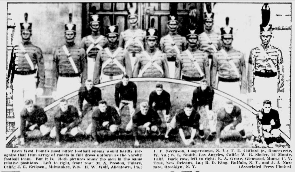 ArmyFB_1935_SchenectadyGazette_Oct161935