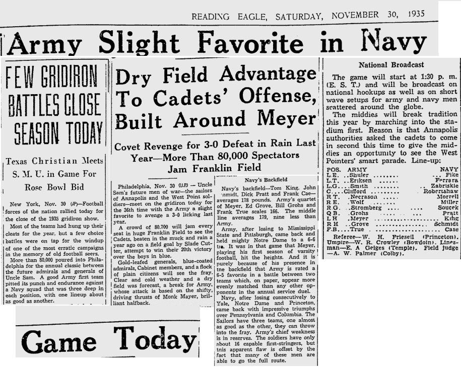 ArmyFB_1935_vsNavy_ReadingEagle_Nov301935