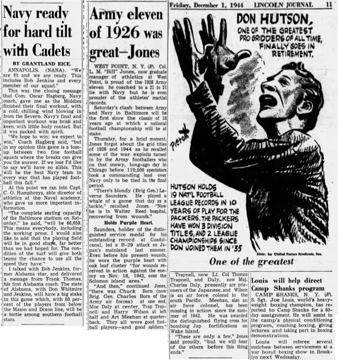 1944_DonHutson_byPierotti_ArmyFB-BiffJones_NEState-LincolnJournal_Dec11944