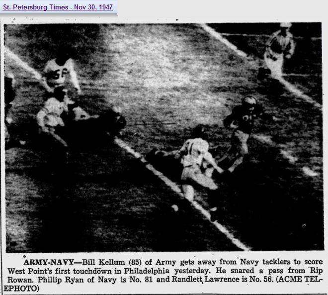 ArmyFB_1947_BillKellum-vsNavy_StPetersburgTimes_Nov301947