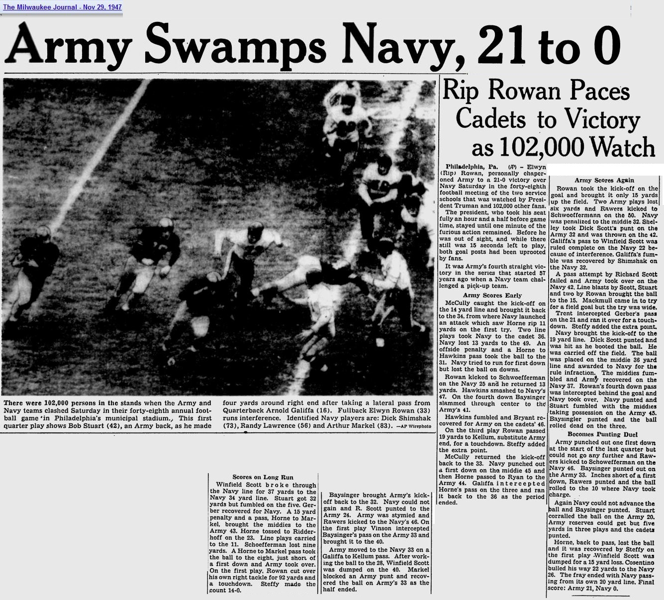 ArmyFB_1947_vsNavy_MilwaukeeJournal_Nov291947
