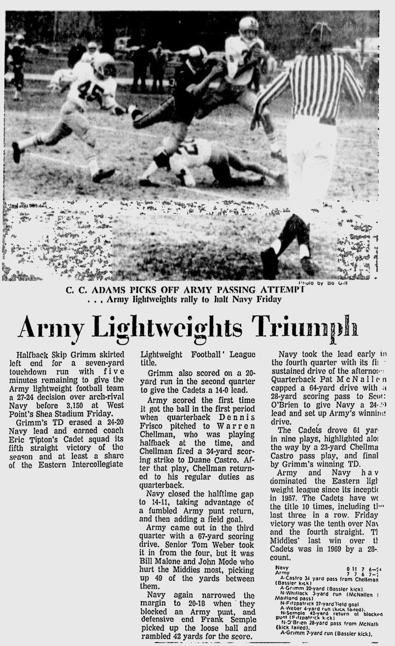 ArmyLFB_1973_111073_NewburghEveningNews_vsNavy