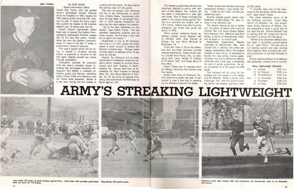 ArmyLFB_1974_ArmyFBprogram_article