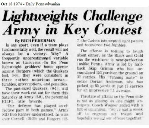 ArmyLFB_1974_vsPenn_DailyPenn_Oct181974