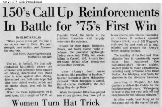 ArmyLFB_1975_vsPenn_DailyPenn_Oct241975