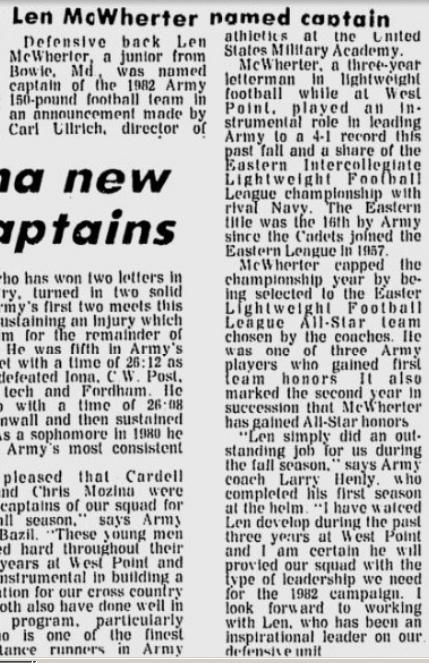 ArmyLFB_1981_LenMcWherter-Captain_EveningNews_Dec271981