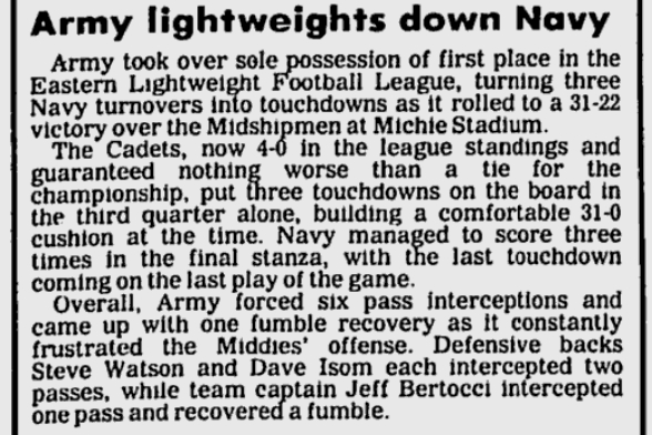 ArmyLFB_1983_vsNavy_EveningNews_Oct251983
