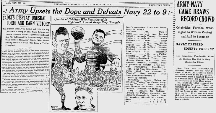 ArmyFB_1913_vsNavy_SundayVindicator_YoungstownOH_Nov301913